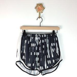 Nike black and gray dri fit shorts